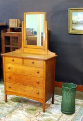 Vintage L J G Stickley Dresser with mirror